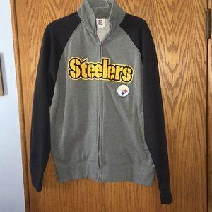 Medium Pittsburgh Steelers zip up sweatshirt